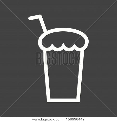 Chocolate, shake, milk icon vector image. Can also be used for coffee shop. Suitable for use on web apps, mobile apps and print media