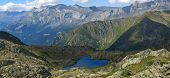 Small Lake And The Mountains, Aiguillette Des Houches, Brevent, France, The Alps, Panorama poster