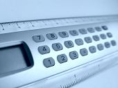 image of statistician  - calculator - JPG