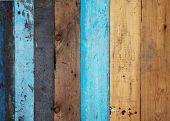 Постер, плакат: Винтаж окрашенные деревянные фон