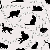 Cats-pattern-3 poster