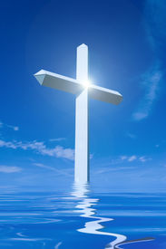 picture of christian cross  - Large Cross with Bright Light for impact and point of focus - JPG