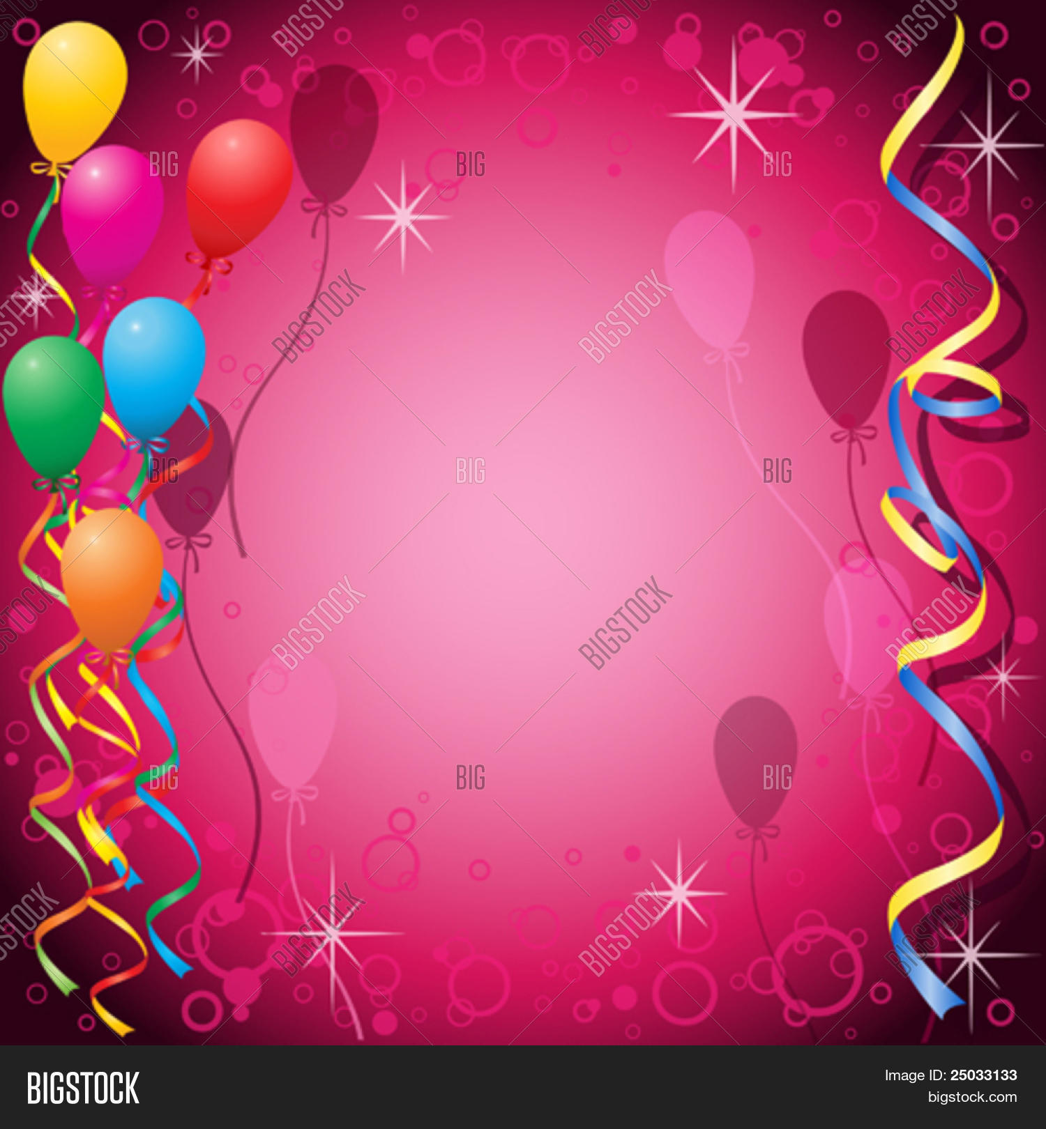 Party Background Balloons Vector & Photo