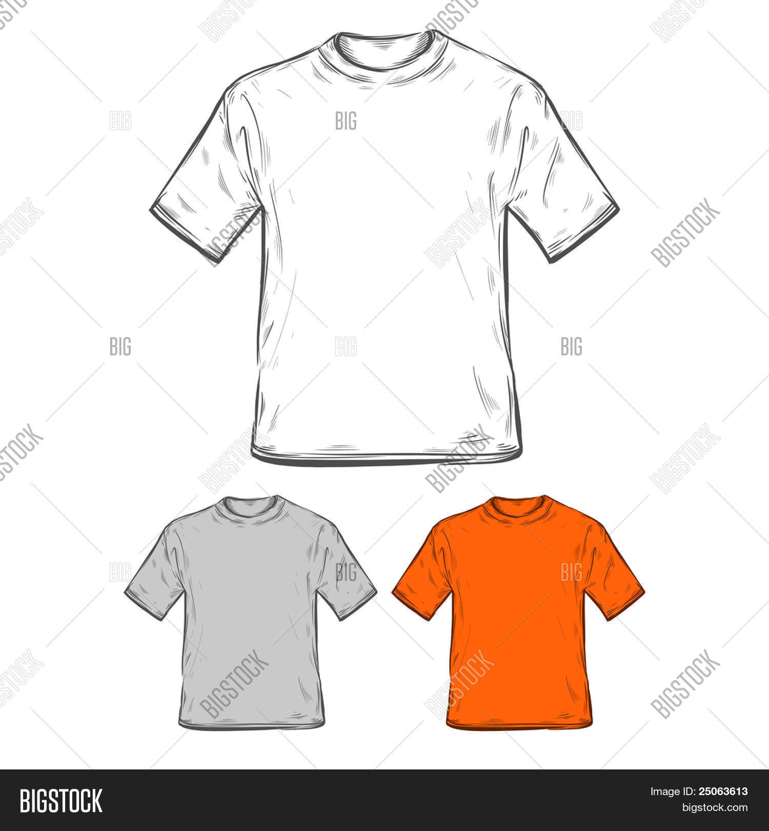 T-shirt Templates. Vector Vector & Photo | Bigstock