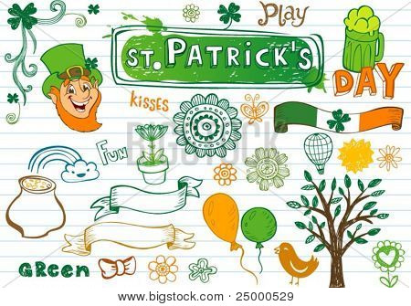 Doodles for st.Patrick's day