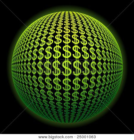 sphere from dollar symbols