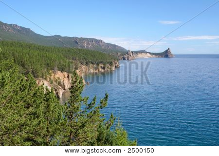 Landscape At The Baikal Lake In Siberia.