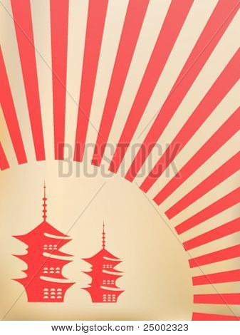 Japanese vector background
