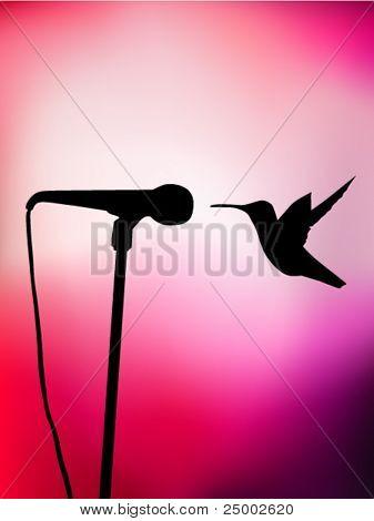 singing vector hummingbird