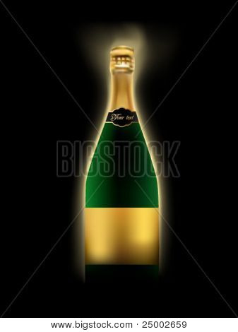 vector champagne illustration
