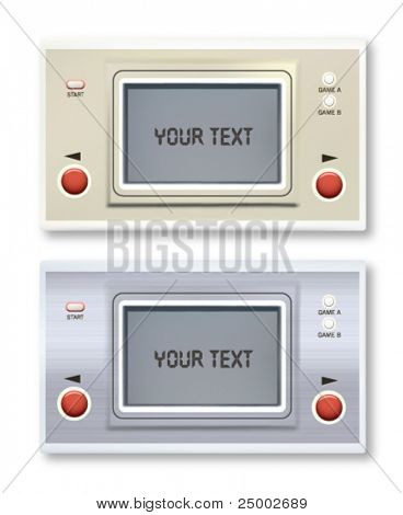 retro vector electronic game illustration