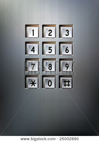 Vector Metallic Keypad