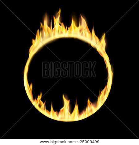 vector ring of fire illustration