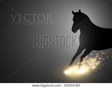 rushing thoroughbred - vector illustration