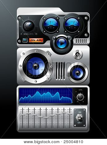 Blau Analog-Mp3-player