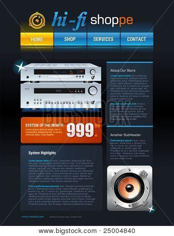 Hi-Fi Store brochure or web template