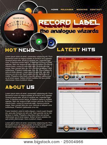 Record Label web design template