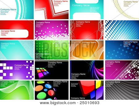 Various Business Card templates. Vector.