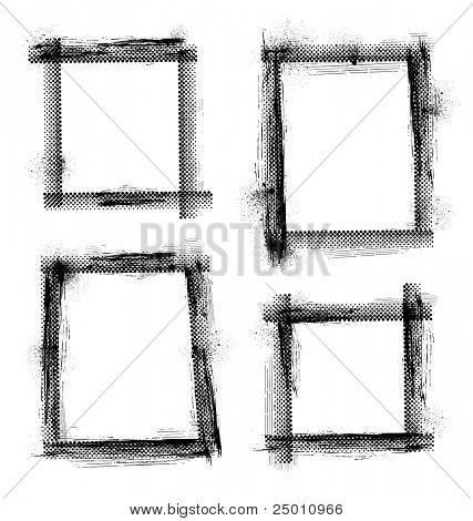 Grunge frame Vector.