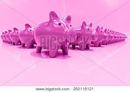 poster of 3d Piggy Bank Concept, Money Savings, Finance, Money Box, Budget,  Investments, Savings Account, Sal