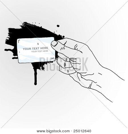 Hand Holding Banner