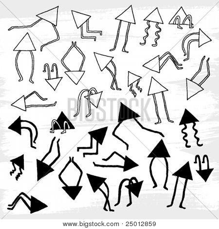 Hand Drawn Arrow's Family