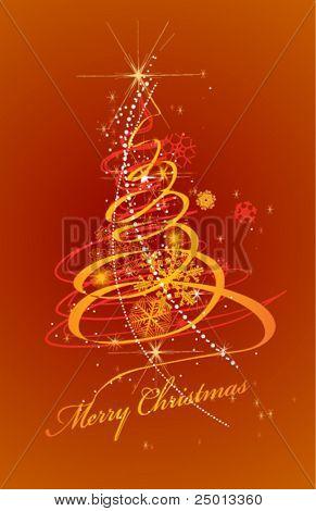 Christmas decorative tree vectror