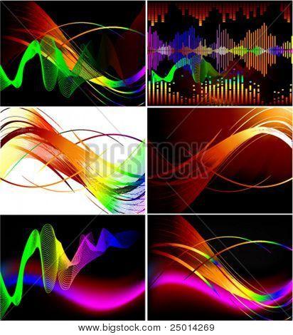 set of wave design - backgrounds