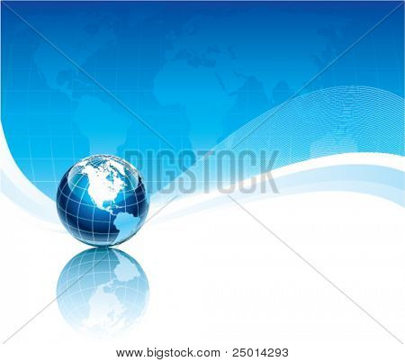 abstract illustration with world-globe