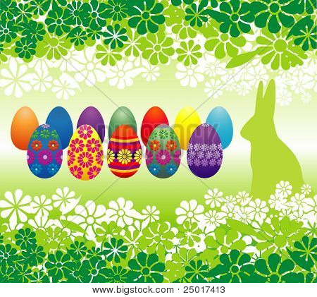 Easter eggs and flowers - vector illustration!