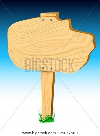 Vector Blank Wood Sign ...add your own text! Enjoy