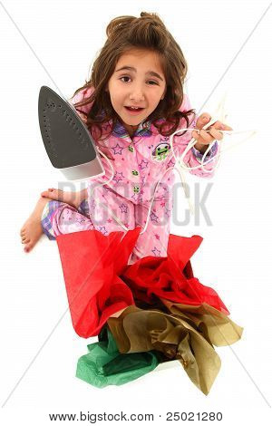 Adorable Young Girl Child Victum Of A Bad Gift