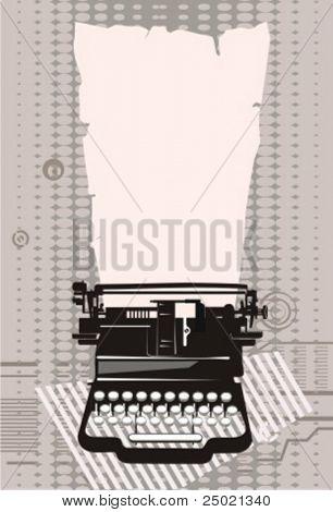 máquina de escribir.Ilustración del vector.