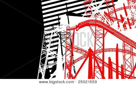 abstract red construction - . vector illustration