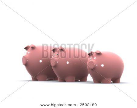 Three Little Piggy Banks