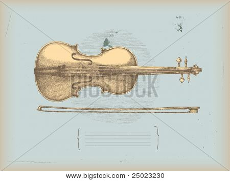 Violin drawing -music instrument