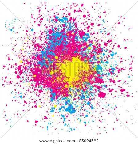 grunge colorful splashing, vector illustration with layers file