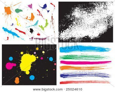 ilustração em vetor de fundo de textura grunge