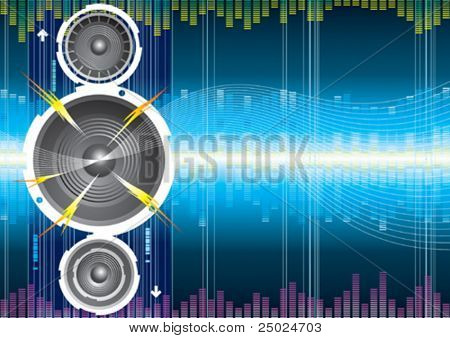 Audio speaker wave background, illustration with layers file.