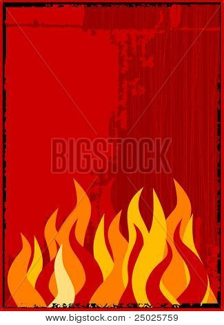 vector flame background
