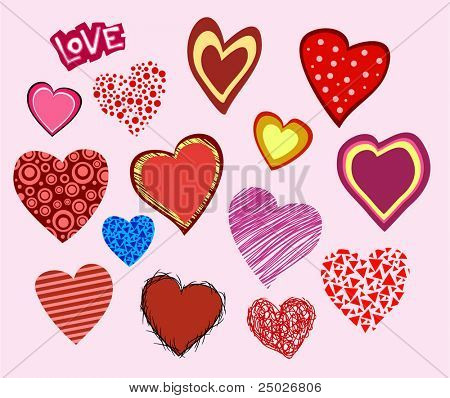 Valentine hearts collection