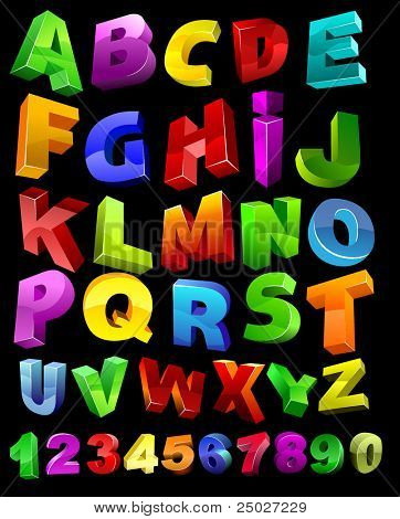 full alphabet with numerals