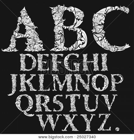 very detailed font