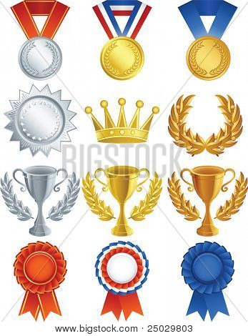 Vector illustration - Awards icon set