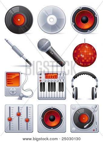 Sound icon set - raster version