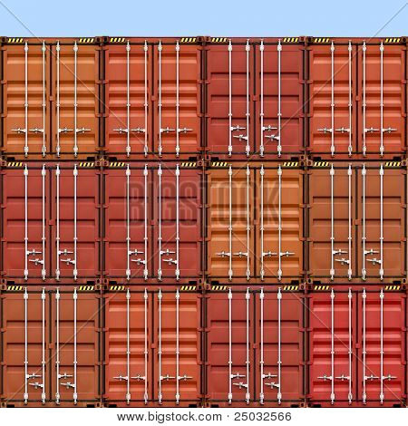 A Stack of Freight Containers