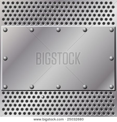 A Metal Background with Mesh and Rivets