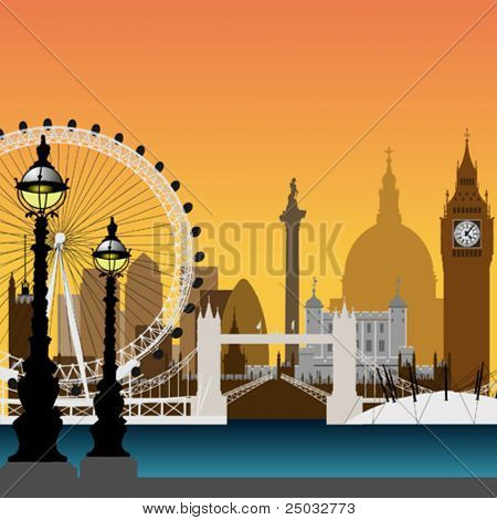 A Vector Cityscape of London