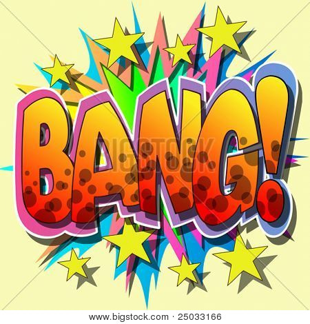 A Bang Comic Book Vector Illustration