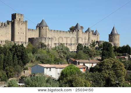 Medieval Town Carcassonne, France